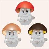 Funghi allegri Fotografie Stock Libere da Diritti