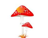 Funghi Amanita Foglio di autunno Fotografie Stock
