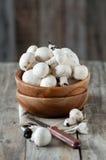 Funghi crudi fotografia stock libera da diritti