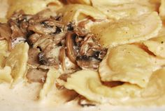 Funghi dei ravioli Fotografie Stock