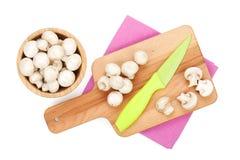 Funghi del fungo prataiolo Immagini Stock