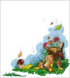 Funghi di autunno illustrazione vettoriale
