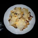 Funghi di Sautéed con formaggio Fotografia Stock Libera da Diritti