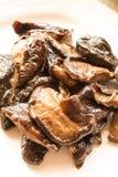 Funghi di shiitake fritti Fotografie Stock