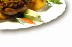 Funghi e patate Fotografia Stock