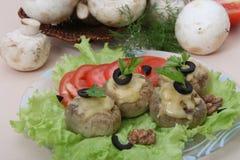 Funghi farciti Fotografia Stock