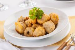 Funghi fritti immagini stock libere da diritti