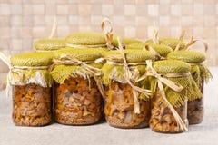 Funghi marinati Fotografia Stock