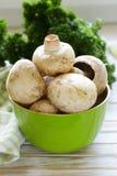 Funghi organici freschi del fungo prataiolo Fotografie Stock Libere da Diritti