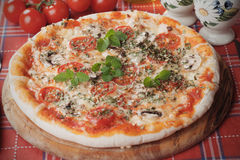 Free Funghi Pizza Royalty Free Stock Photography - 47858397
