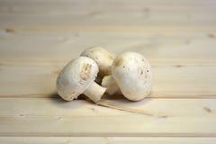 Funghi prataioli sulla tavola Immagine Stock Libera da Diritti