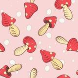 Funghi rosa della caramella gommosa e molle royalty illustrazione gratis