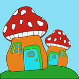 Funghi rossi Fotografia Stock Libera da Diritti