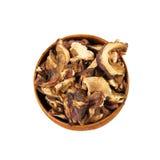 Funghi secchi di porcini Fotografia Stock