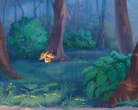 Funghi in una foresta royalty illustrazione gratis