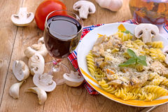 Fungi pasta Royalty Free Stock Photography