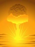 Fungo atomico atomico illustrazione vettoriale