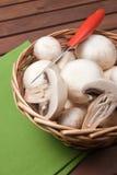 Fungo del fungo prataiolo Fotografie Stock Libere da Diritti
