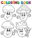 Fungo del libro da colorare Fotografia Stock