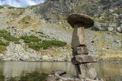Fungo di pietra dal lago verde in Parang Immagine Stock