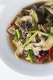 Fungo di shiitake fritto scalpore Immagine Stock