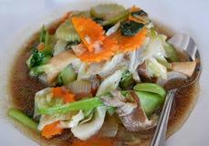 Fungo fritto e verdure miste Immagine Stock Libera da Diritti