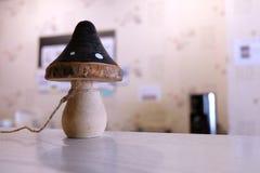 Fungo scolpito di legno immagine stock