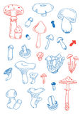 Fungus doodles Royalty Free Stock Photos