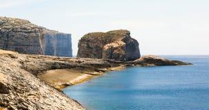 Fungus Rock, Dwajra Bay, Gozo, Malta Stock Images