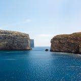 Fungus Rock, Dwajra Bay, Gozo, Malta Royalty Free Stock Photos
