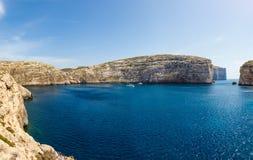 Fungus Rock, Dwajra Bay, Gozo, Malta Royalty Free Stock Image