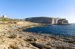 Fungus Rock in Dwejra - Gozo, Malta Royalty Free Stock Photography