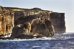 Fungus Rock on Gozo island. Dwejra Bay. Malta.  Stock Image