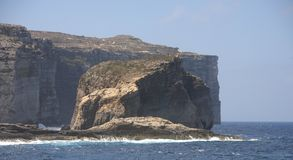 Fungus Rock, Gozo Island, Malta. Fungus Rock next to the Azure Window, Gozo Island, Malta Stock Image