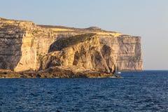 Fungus Rock, Malta. Fungus Rock - an islet made up of limestone, near Dwejra on the coast of the Maltese island Gozo Royalty Free Stock Photo