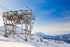 Funicolare in alpi francesi Fotografia Stock Libera da Diritti