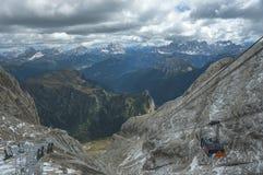Funicolare alpino Fotografia Stock