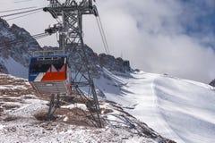 Funicolare alpino Fotografie Stock