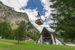 Funicolare alpino Fotografie Stock Libere da Diritti
