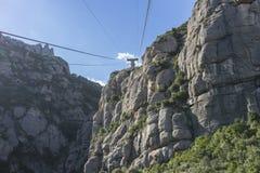 Funicolare, cabina di funivia di Montserrat Monastery a Barcellona, C immagine stock libera da diritti