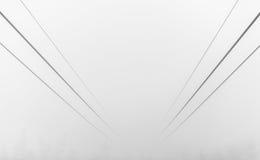 Funicolare in de Mist Stock Foto