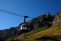 Funicolare sulla montagna della Tabella (Città del Capo) immagini stock libere da diritti