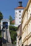 Funicolare a Zagabria Fotografia Stock Libera da Diritti