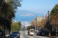 Funiculaire à San Francisco, la Californie Photographie stock