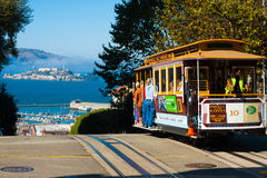 Funiculaire Alcatraz San Francisco de Powell Hyde Photographie stock libre de droits