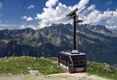Funiculaire de Chamonix Photographie stock libre de droits