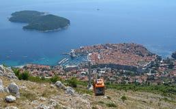 Funiculaire de Dubrovnik Photographie stock libre de droits