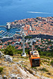 Funiculaire de Dubrovnik photo stock