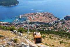 Funiculaire de Dubrovnik images libres de droits