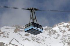 Funiculaire de glacier de Zugspitze Image stock